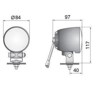 Фара галогеновая противотуманная - белая - с разъeмом AMP на проводе, заказать