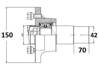 Ступица без тормоза в сборе c типом присоединения колесного диска 98х4 AL-KO